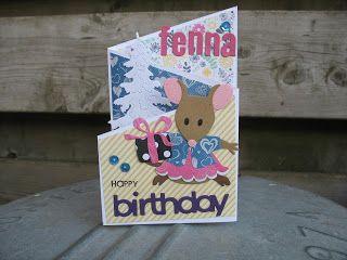 een berg kaartjes (en meer): Muizen birthday kaarten en een halve meter tricot