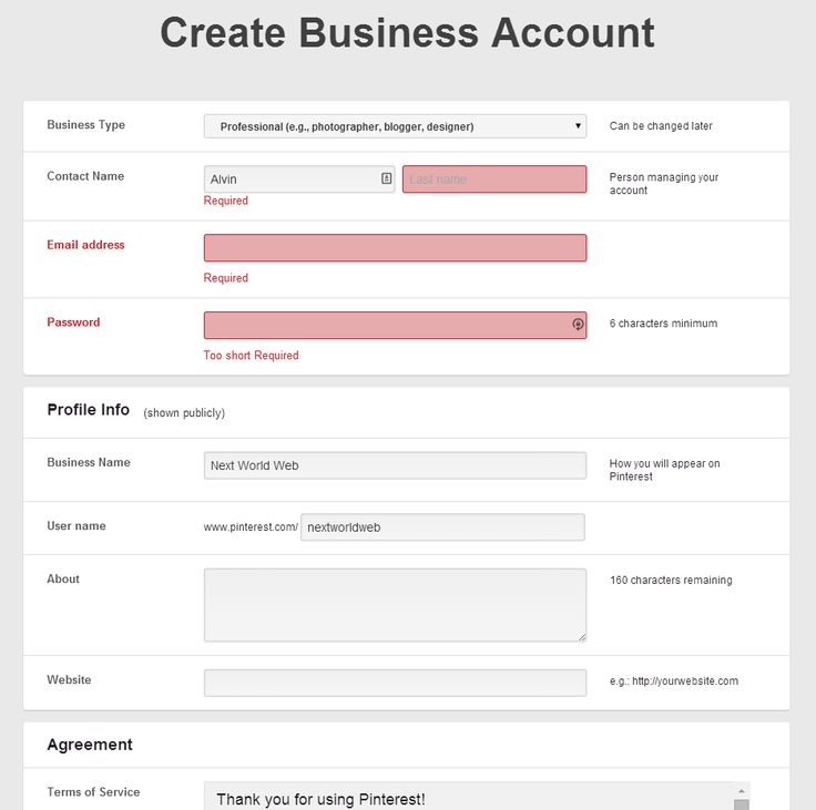 29 best registration interface images on Pinterest User - customer registration form template