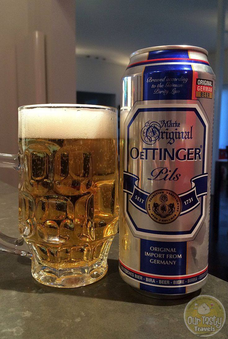 20-May-2015 : Oettinger Pils by Oettinger Brauerei. Not bad at all for a pilsner. #ottbeerdiary