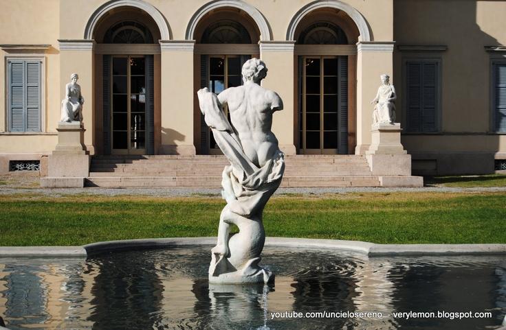 neo-classical Villa Tittoni's fountain - Desio Brianza Italy