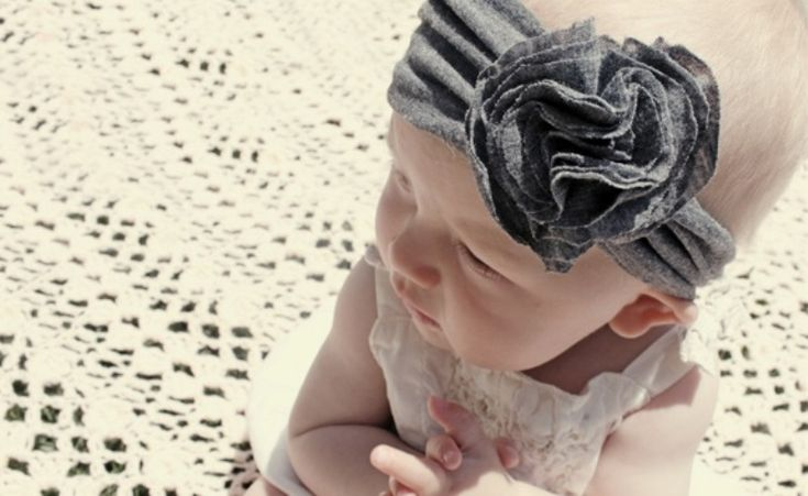 DIY Jersey Headband For Your Baby Girl | Kidsomania