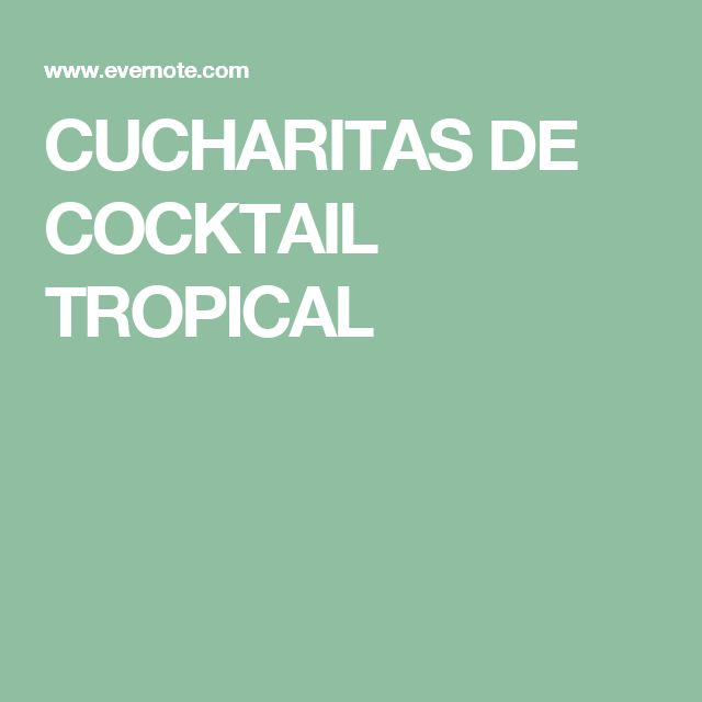 CUCHARITAS DE COCKTAIL TROPICAL