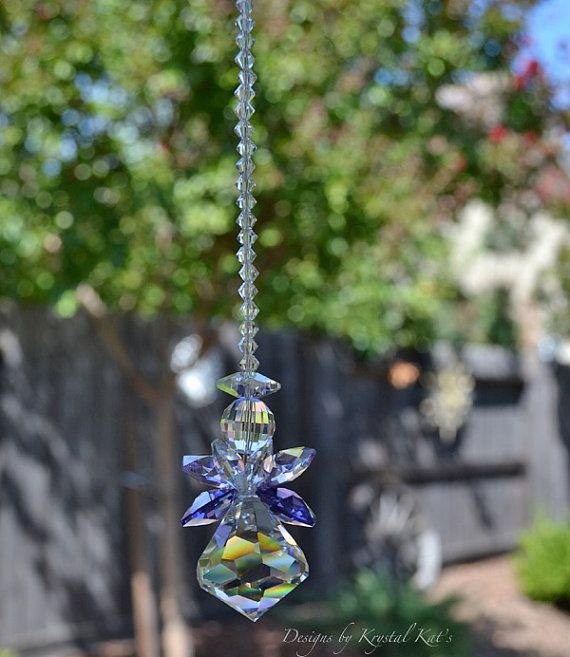 "12"" Guardian Angel Baby Mama Lily Crystal Rainbow Suncatcher Rearview Mirror Car Charm Ornament, Memorial or Mom Gift, Christmas Home Decor on Etsy, $36.86 CAD"