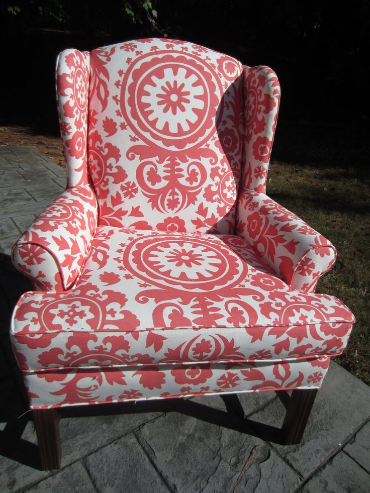 accent chair coral breeze by urbanmotifs on etsy