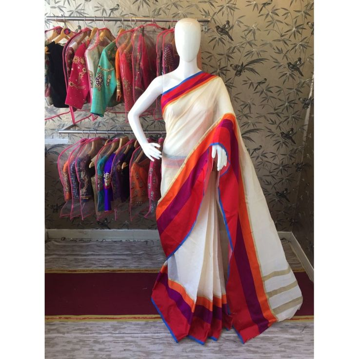 Cute Orangecream Color Pure Cottan Silk Saree at just Rs.999/- on www.vendorvilla.com. Cash on Delivery, Easy Returns, Lowest Price.