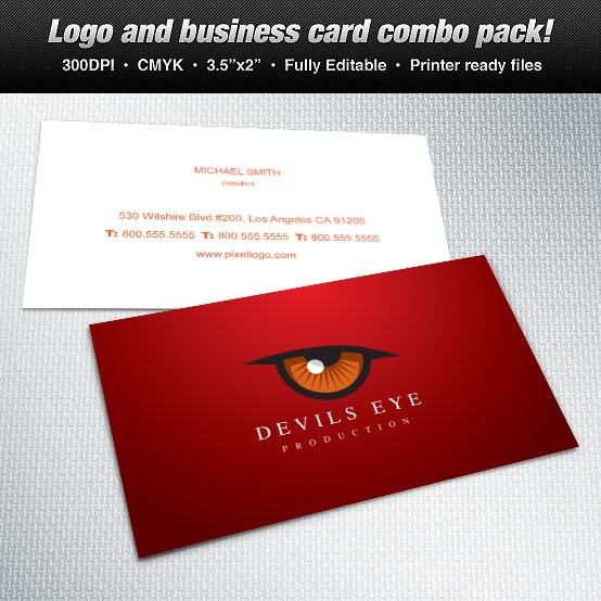 business card devils eye theme #design