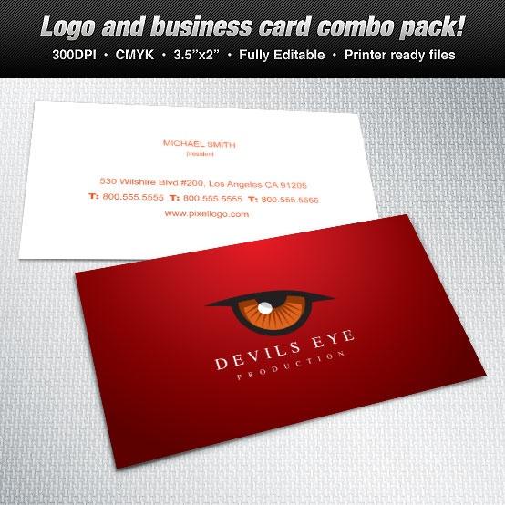 business card devils eye theme #design