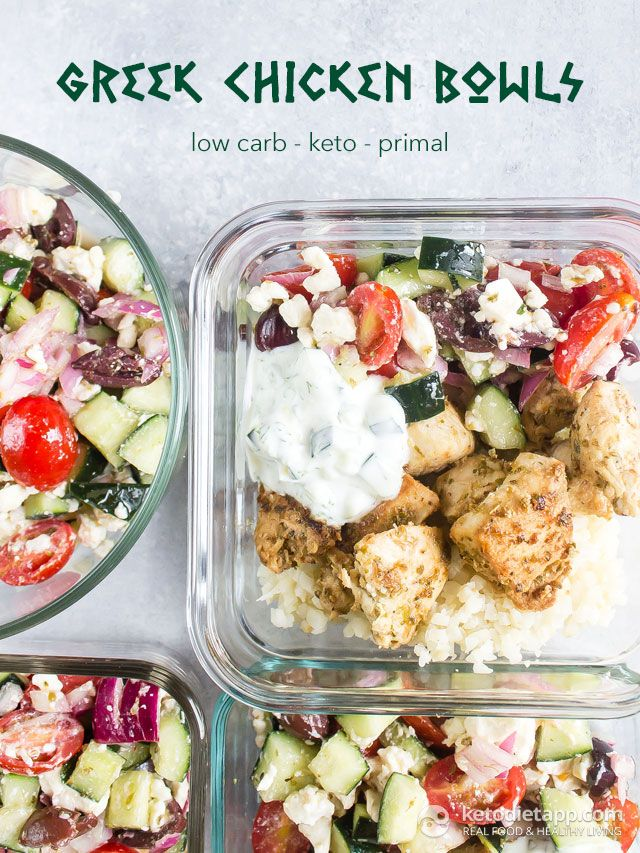 Low-Carb Greek Chicken Bowls