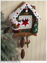 Bucilla ® Seasonal - Felt - Home Decor - Christmas Time Wall Hanging. #crafts #bucilla #plaidcrafts #felt #christmas