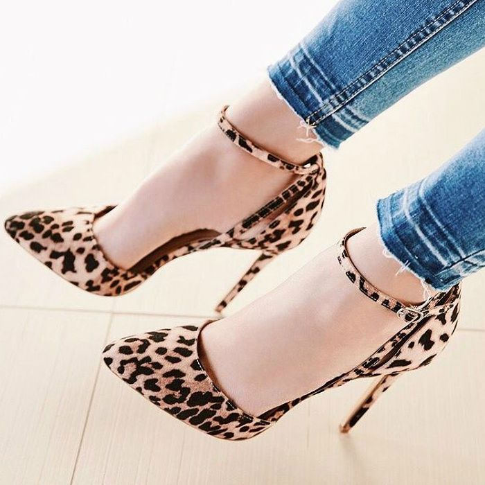 Leopard Print Pointy Stiletto Pumps