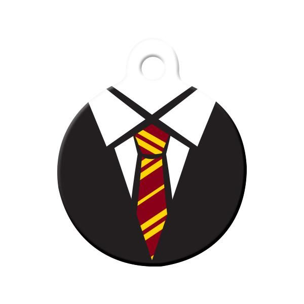 Gryffindor Uniform (Harry Potter) Dog Tag - Is your pet attending Hogwarts? Did the Sorting Hat sort your pet into Gryffindor? Wear these school colors with pride!