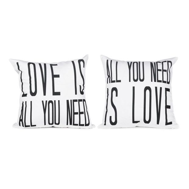 Love Pillow Case From Modern Family : Love is All Pillow Cover Set favourites Pinterest Pillows, House and Family room design