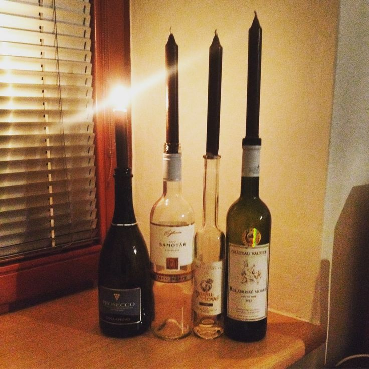 DIY Advent candlestick for wine lovers  #prosecco #whitewine #redwine #candles #advent #christmas #DIY #candlestick