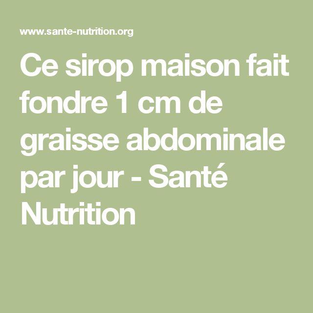 Ce sirop maison fait fondre 1 cm de graisse abdominale par jour - Santé Nutrition