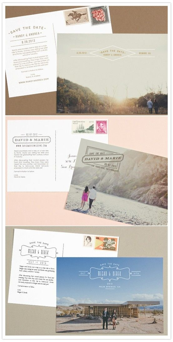 Postcard 'Save the Date' - Front typography with date and location