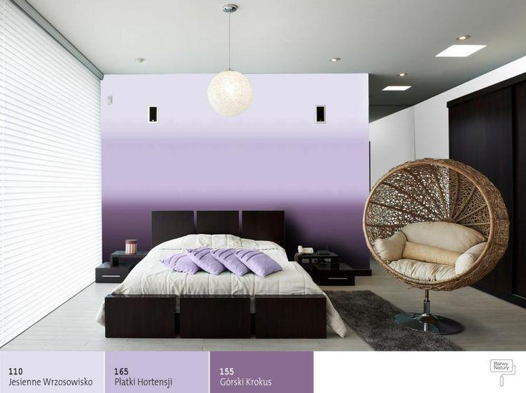 Cieniowanie farby na ścianie -efekt ombre