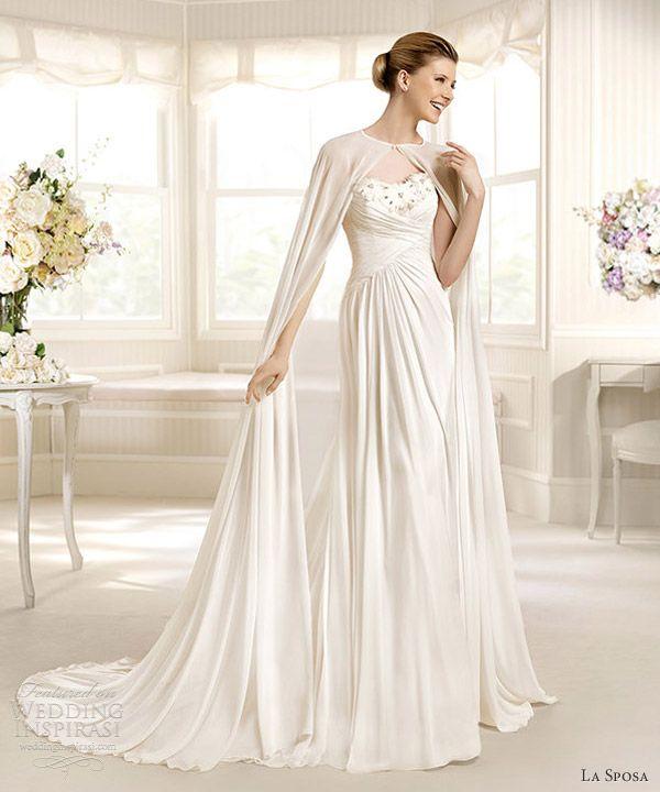 Nice la sposa marcial wedding dress full length bridal cape