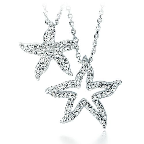 Holly Starfish Double Pendant with Swarovski® Crystals