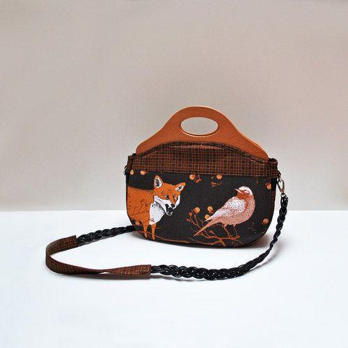 Zipová kabelka...Sen-Noc-Liška a pták2 * KikiBike