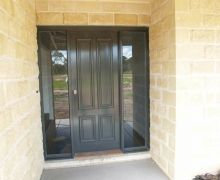 Classic entrance with twin side-lite