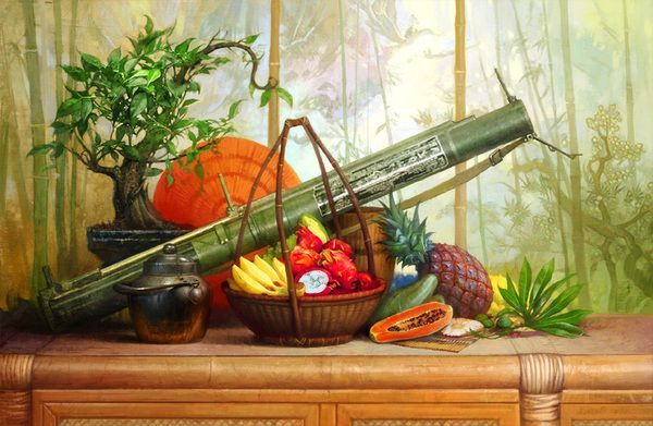 still life with a bazooka (actually M72 Law rocket)