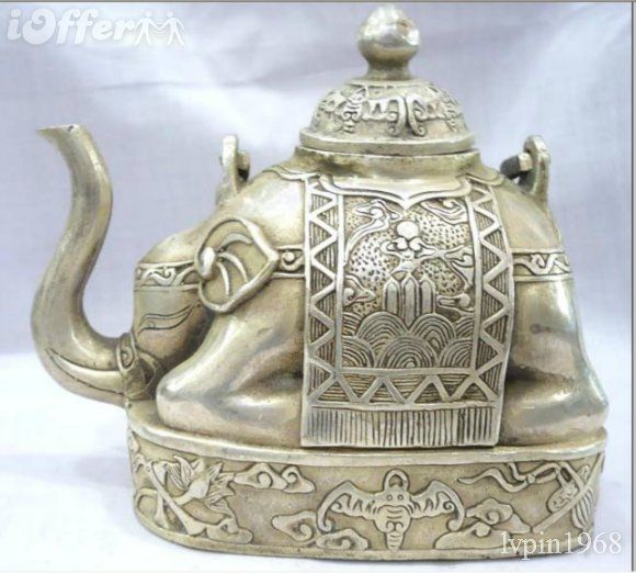 Tibetan elephant tea pot