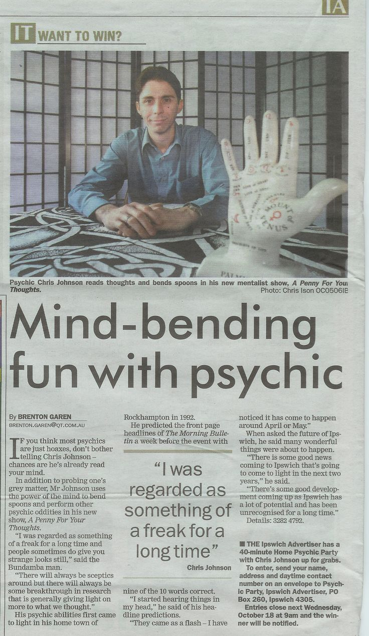 Psychic parties with Chris Johnson the Mentalist