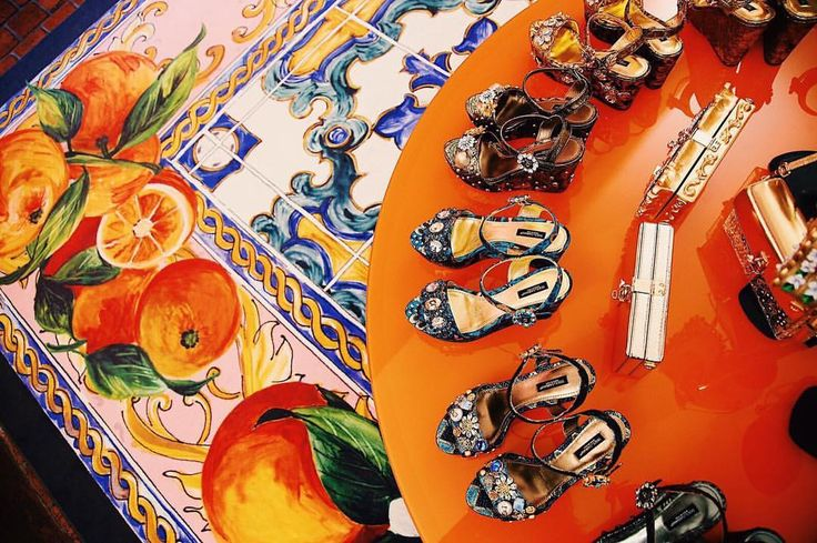 Traditional Sicilian tiles exult the collection of shoes and bags. Discover more at the Pop Up Boutique in Tonnara Florio in Palermo. Dolce&Gabbana Alta Moda  Dolce&Gabbana Alta Gioielleria  Dolce&Gabbana Alta Sartoria  #DGLovesPalermo #lamoreèbellezza Photo by @luizaferraz x @fashiontomax