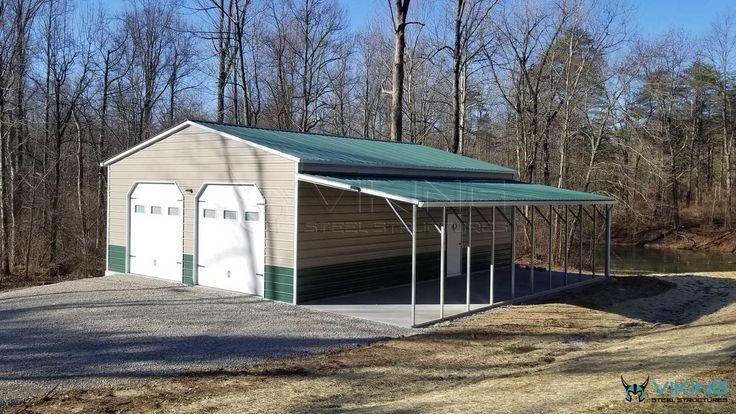 30'x40'x12' Fully Enclosed Metal Garage in 2020 Metal
