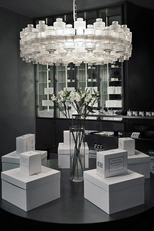 ByRedo shop in Stockholm with a grand Orrefors festival pendant.