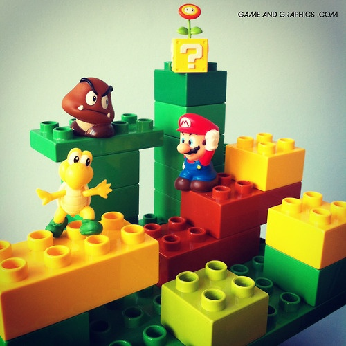 Super Mario 3D Land in Lego Duplo, by Game & Graphics