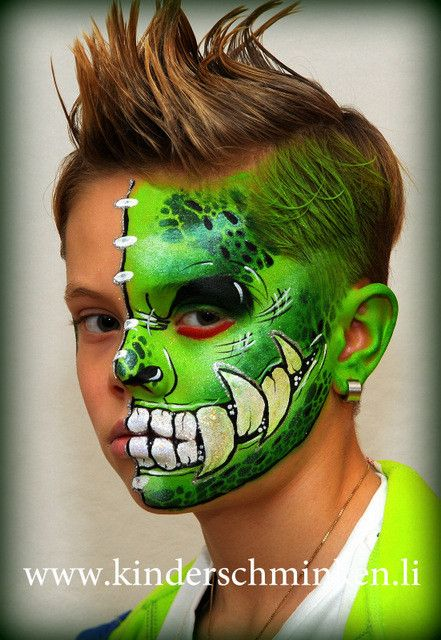 Pin by Connie Arnold on face paint - dragons, dinosaurs ...