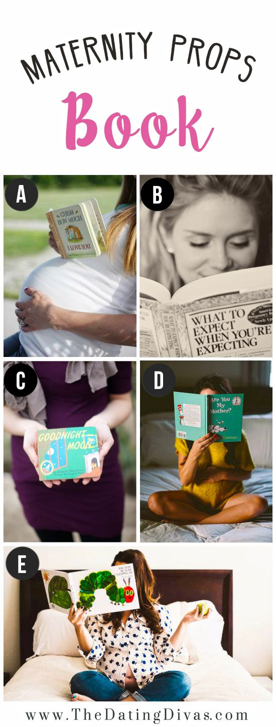 Books for Maternity Photo Shoot Prop