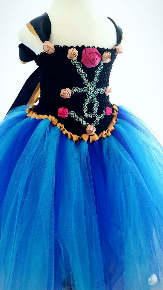 Princess Anna Tutu Dres Frozen inspired tulle by LilSweetPeaTutus