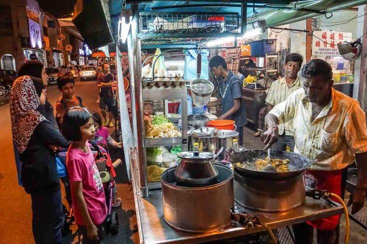 Street food scene in George Town Penang Malaysia