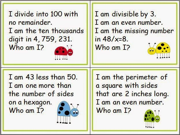 Classroom Freebies: Keep 'Em Thinking with Number Riddles!