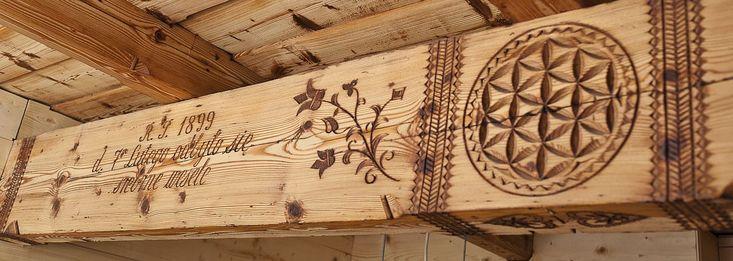 """Sosreb"" carved beam - Podhale, Poland"
