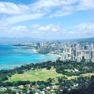 View from Diamond Head #diamondhead#oahu#hawaii#hawaiihiking#diamondheadtrail#mustdo#hikingoahu