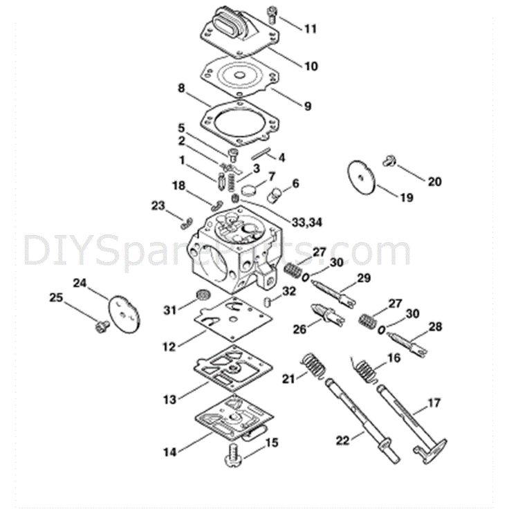 Stihl Ms 290 Chainsaw Ms290 Parts Diagram Carburetor Hd