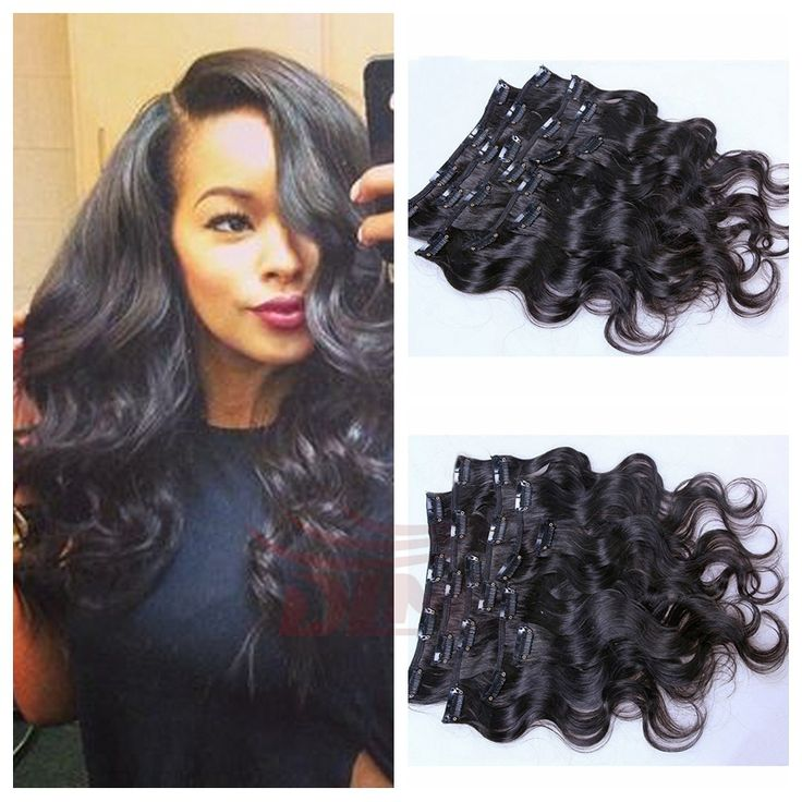 91 best clip in human hair extension images on pinterest wigs hot selling wholesale peruvian virgin hair weft clip in hair extensions 8pcs full head wavy hair pmusecretfo Gallery