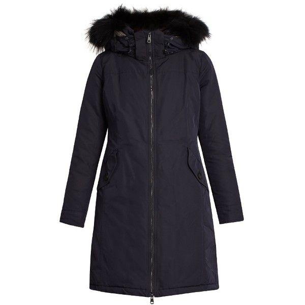 Weekend Max Mara Gavino parka (11.150 ARS) ❤ liked on Polyvore featuring outerwear, coats, navy parka, padded parka, insulated coat, navy blue coat and parka coat