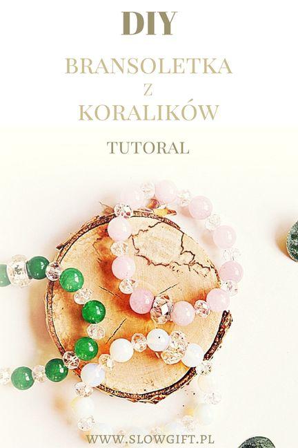 bracelet with beads, quartz and glass, tutorial / efektowna bransoletka z koralików - zobacz, jak ją zrobić