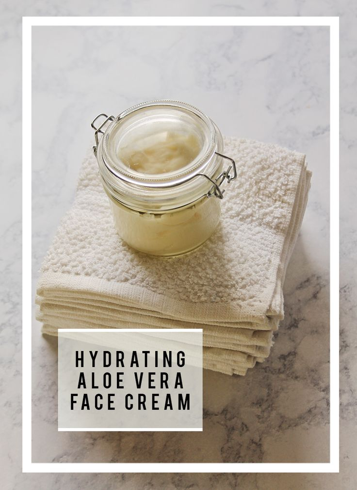 Get your hands on an all natural creamy hydrating face cream recipe!