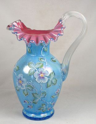 Fenton Glass 1995 Victorian Pitcher 2796ZM HP by Marilyn Wagner Le 8 490 | eBay