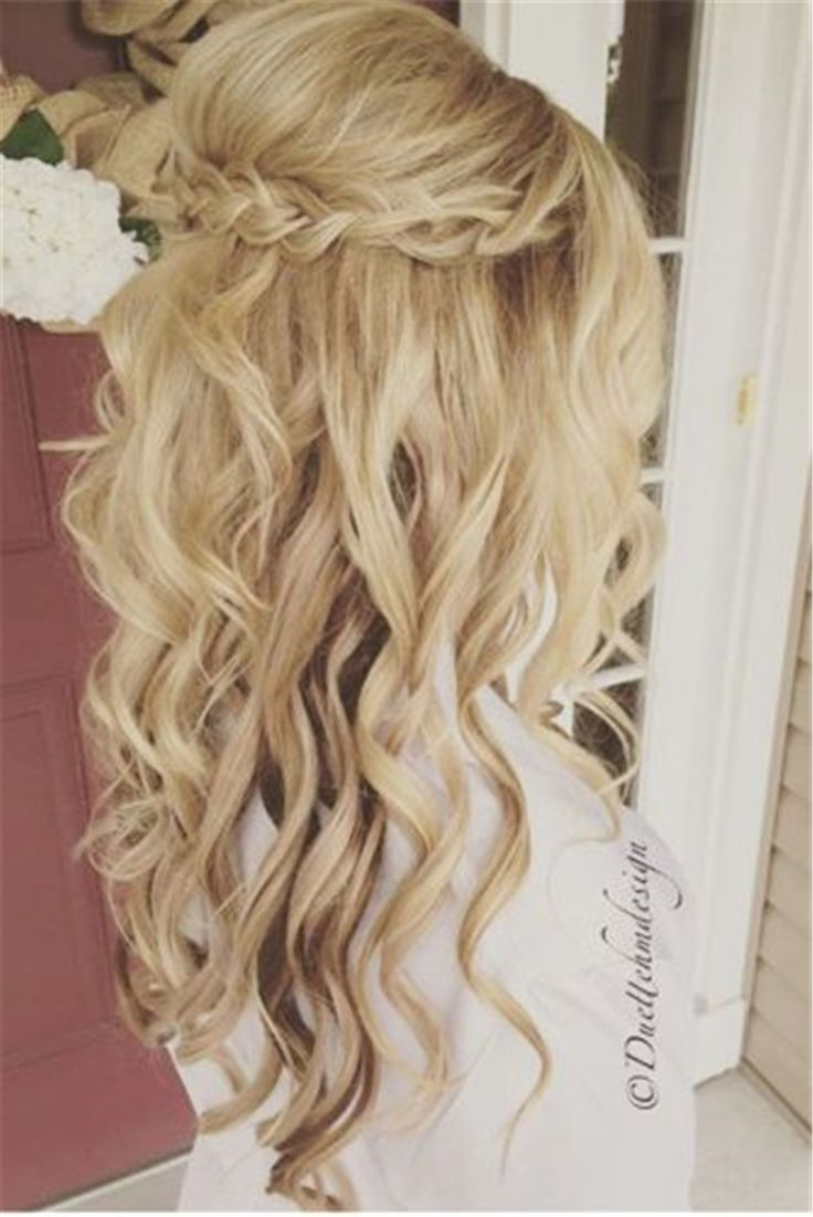 Half Up Half Down Hairstyles 25 best half up wedding hair ideas on pinterest long bridal hair bridal hair half up and half up half down wedding hair 22 Half Up And Half Down Wedding Hairstyles To Get You Inspired