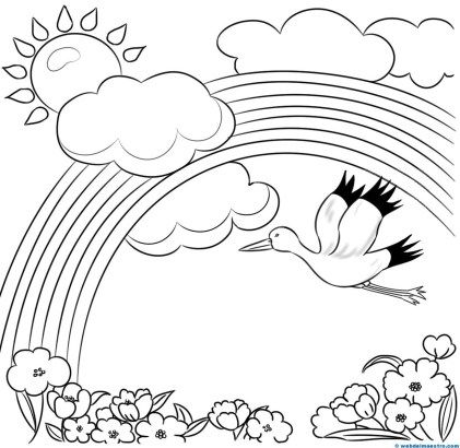 506 best images about kids pre writing coloring pages on - Paisajes nevados para pintar ...