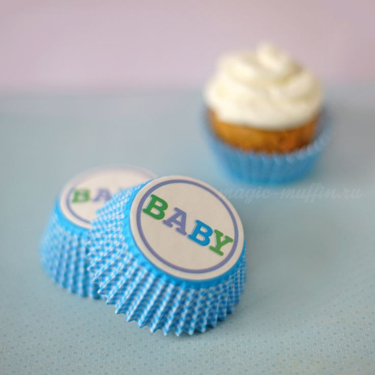 Формочки Baby Boy, 12 шт. капкейк маффин торт декор крем выпечка рецепт cupcake muffin cake cup baking frosting decor birthday