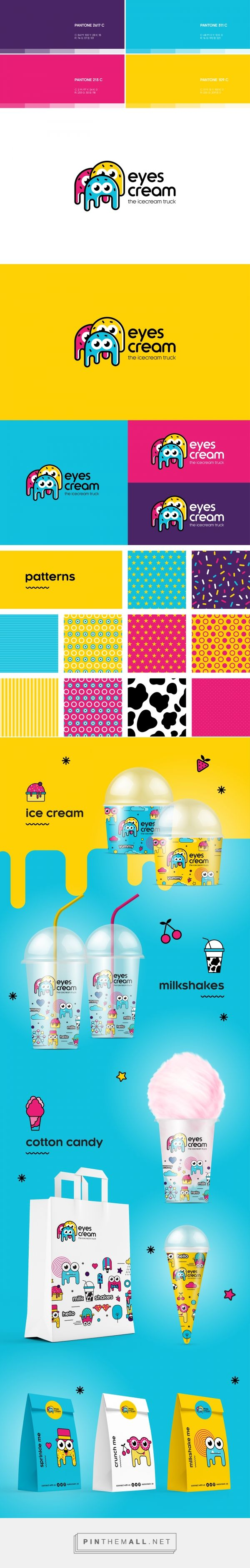 Branding, illustration and packaging for Eyes Cream Truck on Behance curated by…