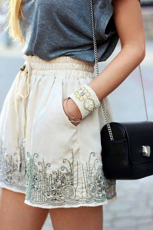 Cute and comfy shorts + tee - without being so short!