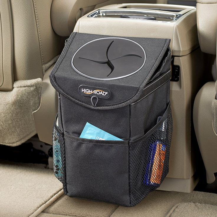 High Road StashAway Car Trash Can with Lid and Storage Pockets #can, #car, #trash